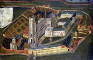 The Abbey of Saint-Bertin at Saint-Omer 1776 by Jacques Francois Joseph Lemaire