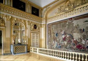 The bedchamber of Louis XIV by French School