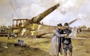 Heavy Artillery on the Railway by Francois Flameng