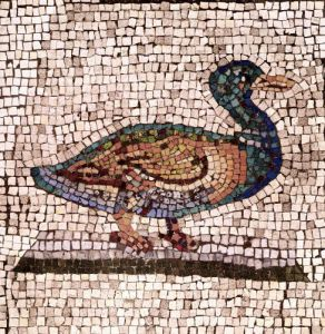 A Duck detail from Orpheus Charming the Animals by Roman Art