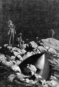 Illustration from 'From the Earth to the Moon' by Jules Verne by Emile Antoine Bayard