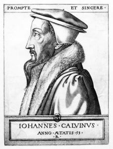 Portrait of John Calvin 1564 by French School