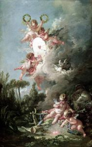 Cupid's Target from 'Les Amours des Dieux' 1758 by Francois Boucher
