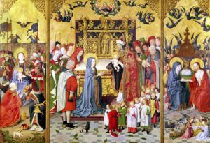 Altarpiece of the Seven Joys of the Virginc.1480 by Anonymous