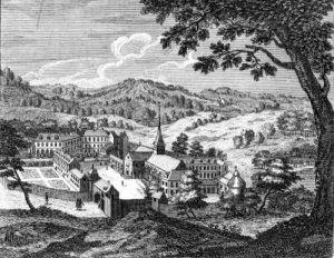 General view of the Abbey of Port-Royal des Champs 1709 by Louise Madelaine Cochin