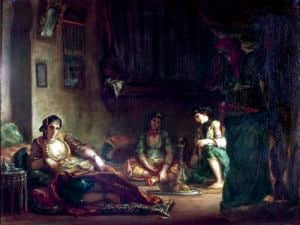The Women of Algiers in their Harem 1847 by Eugene Delacroix