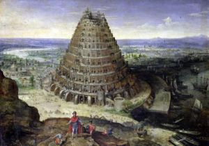 The Tower of Babel 1594 by Lucas van Valckenborch