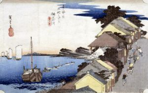 Kanagawa' View of the Ridge from '53 Stations of the Tokaido' 1834 by Ando Hiroshige
