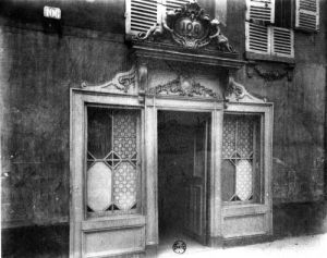 Entrance of a brothel in Paris 106 rue de Suffren c.1900 by Eugene Atget