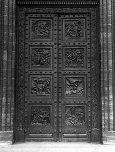 View of the door of La Madeleine by Henri Joseph Francois de Triqueti