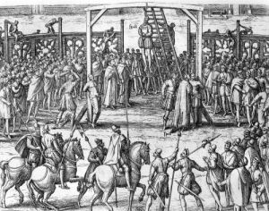 Scenes of hanging in the Flanders 1570 by Franz Hogenberg