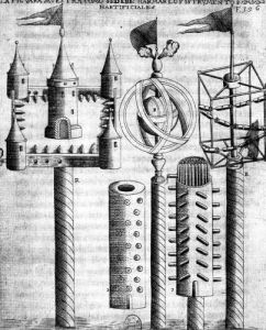 How to set fireworks illustration from 'Tratado de Artilleria' by Flemish School