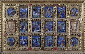 Altarpiece depicting scenes from the Passion and the Evangelists by Pierre Reymond