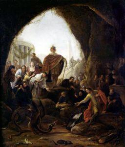 Daniel Killing the Dragon of Baal by Jacob Willemsz de Wett