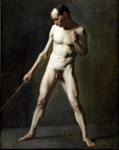 Nude Study by Jean Francois Millet