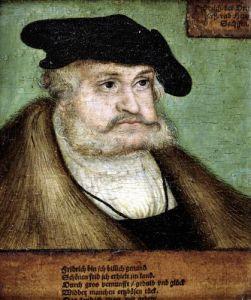 Portrait of Friedrich III Elector of Saxony 1532 by Lucas Cranach