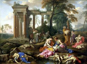The Death of the Children of Bethel 1653 by Laurent de la Hyre