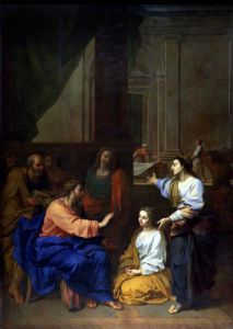 Christ with Martha and Mary by Claude Saint-Paul II