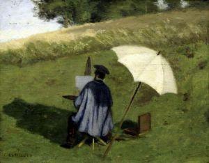 Desire Dubois Painting in the Open Air c.1852 by Henri Joseph Constant Dutilleux