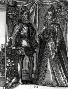 Portrait of Albert Archduke of Austria and his wife Isabella Clara Eugenia by Austrian School