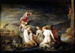 Hero and Leander' Leander Found by the Nereids 1650 by David Teniers the Younger