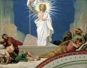 Study for the Resurrection of Christ 1860 by Jean-Hippolyte Flandrin