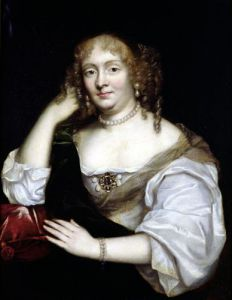 Portrait of Marie de Rabutin-Chantal Marquise de Sevigne by French School