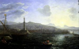 The Port of Genoa Sea View by Claude Lorraine