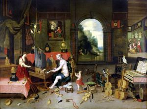 Allegory of Hearing by Jan Van Kessel & Hendrik Van Balen