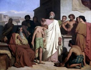 Annointing of David by Saul 1842 by Felix-Joseph Barrias