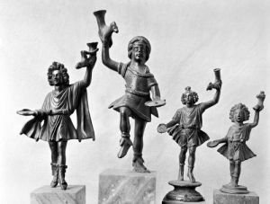 Four figures of Lar by Roman Art