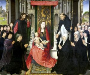 The Virgin and Child with St. James and St. Dominic by Hans Memling