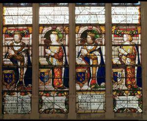 Window depicting Jacques de Bourbon Comte de la Marche by French School