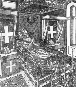 Henri IV on his deathbed 1610 by French School
