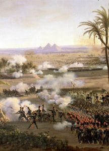 Battle of the Pyramids 1806 (detail) by Louis Lejeune