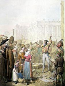 The Quai d'Ecole Paris 1831 by Georg Emanuel Opitz