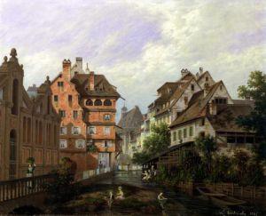 Rue des Tanneurs Colmar 1875 by Michel Hertrich