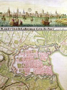 Plan of the town of La Rochelle 1736 by French School