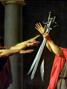 The Oath of Horatii 1784 by Jacques-Louis David