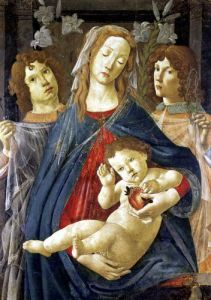 Virgin of the Pomegranate by Sandro Botticelli