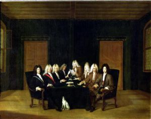 The Plenipotentiaries at the Congress of Baden 1714 by Johann Rudolph Huber the Elder