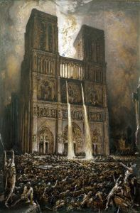 The Populace Besieging Notre-Dame by Francois Nicolas Chifflart