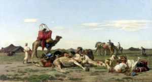 Nomads in the Desert 1861 by Georges Washington