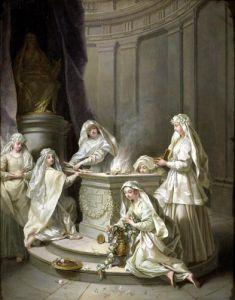 Vestal Virgins 1727 by Jean Raoux