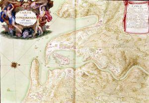 Map of Corncarneau from the 'Atlas Louis XIV' 1683 by Sebastien Le Prestre de Vauban