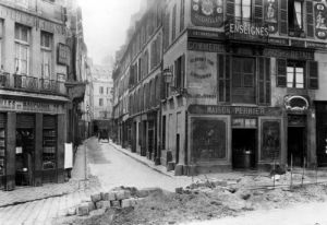 Rue Maitre Albert Paris 1858 (II) by Charles Marville