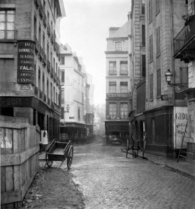 Rue des Bourdonnais Paris 1858 (I) by Charles Marville