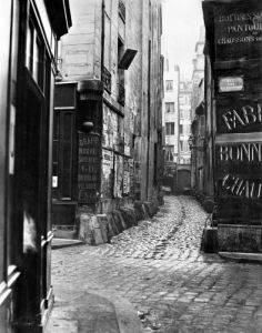 Impasse des Bourdonnais from rue de la Limace Paris 1858 by Charles Marville