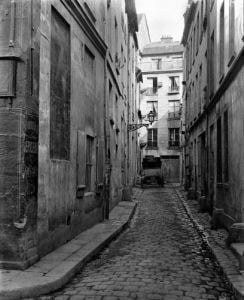 Cul-de-sac Saint-Ambroise from rue du Haut-Pave Paris 1858 by Charles Marville