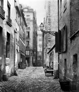 Rue Basse des Ursins Paris 1858 by Charles Marville